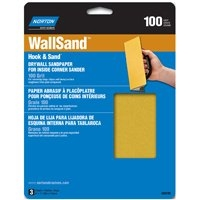 NORTON MEDIUM 100 GRIT SANDING SHEET FOR INSIDE CORNER SANDING TOOL  (PACK OF 3)