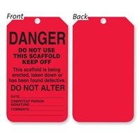 Scaffold Status Tag - Red