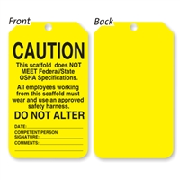 Scaffold Status Tag - Yellow