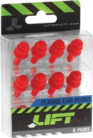 LIFT Flange Ear Plugs [6 PAIR]