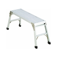 "Aluminum Platform Step Up Folding Work Bench    39 1/2"" X12"""