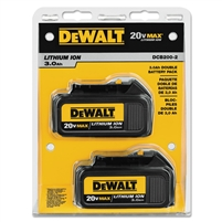 DEWALT 20V MAX* 3.0Ah Lithium Ion Battery 2 Pack DCB200-2