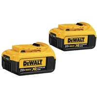 DEWALT 20V MAX* Premium XR 4.0Ah Lithium Ion Battery 2 Pack  DCB2042