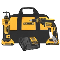 DeWalt 20V MAX* Brushless Drywall Screwgun & Cut-Out Tool Combo Kit DCK263D2