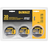 DEWALT 30-Pc. Impact Ready 3 Can Screwdriving Bit Set