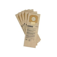 DeWalt DWV9401 Paper Dust Bags 5Pk for DWV012