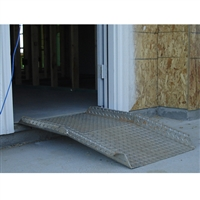 "Threshold Plate with Bend and Edges 24"" x 36"" x 1/4"" with 2"" Bend and Lip"