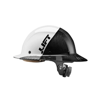 LIFT SAFETY DAX Fifty 50 Carbon Fiber Full Brim Hardhat Hi Vis Black HDF50C 19WC