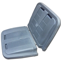 Removable Split Lid for Toter 1/2 cubic yard. Trash Truck  KLT105