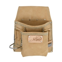 OX TOOLS 8-Pocket Tool/Fastener Pouch, Suede Leather  OXGT263908