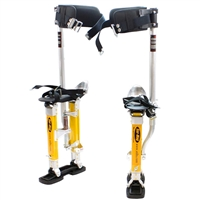 "Sur-Pro Sur-Mag Adjustable Magnesium Quad-Lock Drywall Stilts 15-23"" SS1523MP"
