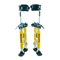 "Sur-Pro Sur-Mag Adjustable Magnesium Quad-Lock Drywall Stilts 18-30"" SS1830MP"