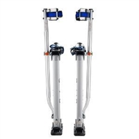 "Adjustable Drywall Stilts 15""-23"" Silver (REACH 8 FT HEIGHTS)"