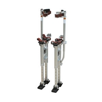 "Adjustable 18"" To 30"" SILVER Aluminum Drywall Stilts (REACH  9 FT HEIGHTS)"