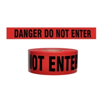 "Red Danger Do Not Enter Tape 3"" X 1000'"