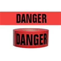 "Red Danger Tape - 3"" X 1000'"