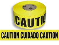 "English/Spanish Yellow Caution/Cuidado Tape 3"" X 1000'"