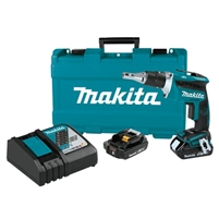 Makita 18V LXT Lithium Ion Compact Brushless Cordless 4,000 RPM Drywall Screwdriver Kit (2.0Ah)  XSF03R