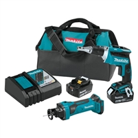 Makita 18V LXT Lithium Ion Cordless 2 Pc. Combo Kit (5.0Ah)  XT255T