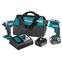 Makita 18V LXT Lithium Ion Cordless 2 Pc. Combo Kit (5.0Ah)  XT262T
