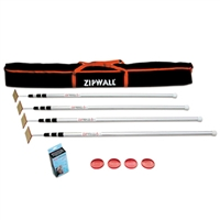 ZIPWALL Spring Loaded Pole Pack [4]   4'-12'
