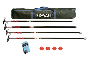 "ZIPWALL ZipPole 4-Pack Kit 4' 2""- 10' 3"""