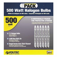 Voltec 500 W Replacement Halogen Bulb 6 Pack