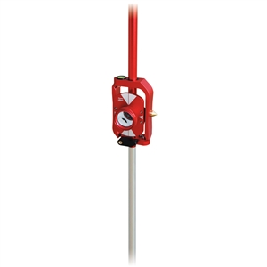 SitePro Red Mini Prism Sliding Pole System