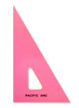 "Pacific Arc 4"" 30/60 Degree Fluorescent Pink Triangle"
