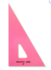 "Pacific Arc 6"" 30/60 Degree Fluorescent Pink Triangle"