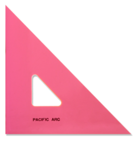 "Pacific Arc 4"" Fluorescent Pink 45/90 Degree Triangle"