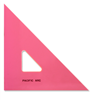 "Pacific Arc 8"" Fluorescent Pink 45/90 Degree Triangle"