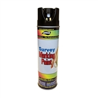 Aervoe Upside-down Black Spray Paint Can for Survey Marking