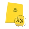 yellow sewn Fabrikoid field book