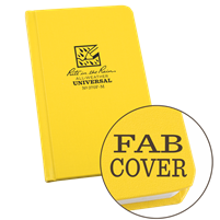 yellow sewn Fabrikoid small pocket journal