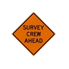 "ChrisNik 36"" ""Survey Crew Ahead"" Vinyl Sign with Ribs"