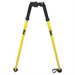 yellow and black SECO thumb release open clamp bipod