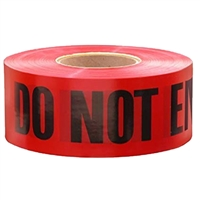 "Red 3"" x 300' ""DANGER DO NOT ENTER"" Tape"
