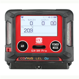 RKI GX-3R PRO 4 GAS MONITOR (LEL/O2/H2S/CO)