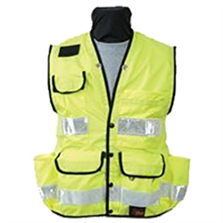SECO Yellow Survey Safety Vest with Pockets