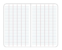 Elan Level Grid Filler Paper | White Ledger Paper Mini-binders