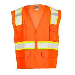 Kishigo Orange Solid Front with Mesh Back Vest