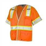 Kishigo Premium  Brilliant Series Breakaway Class 3 Vest Orange