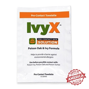 Certified Safety IvyX Pre Contact Solution Towelettes (25/Box)