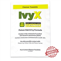 Certified Safety IvyX Post Contact Solution Towelettes (25/Box)