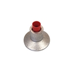 "Desert Engineering Group 2-1/2"" Flat Top Aluminum 5/8"" Rebar Cap with Plastic Insulator"