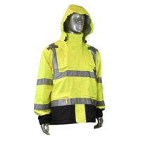 Radians Heavy Duty Rip Stop High Visibility Waterproof Rain Jacket