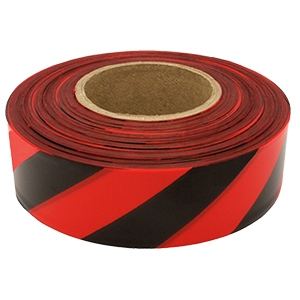 Presco Striped Flagging Tape - GLO Red/Black