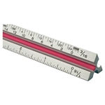 "Alvin 12"" Solid Aluminum Architect Triangular Scale"