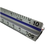 "Alvin 12"" Solid Aluminum Engineer Triangular Scale"